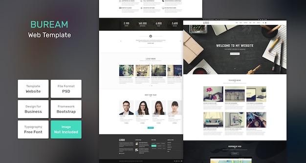 Modello web di affari e agenzia di buream