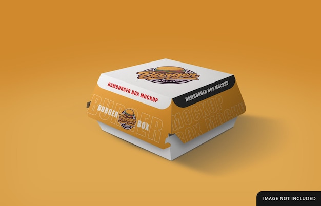 Hamburger box mockup design