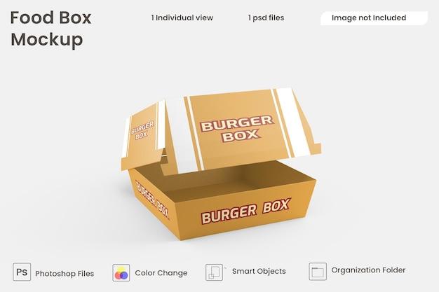Modello di scatola di hamburger psd premium