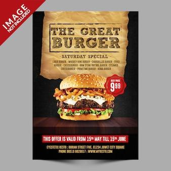 Modello di burger flyer