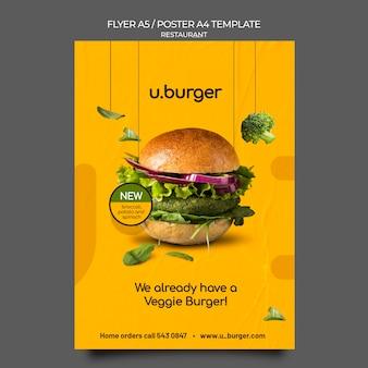 Modello di stampa ristorante hamburger