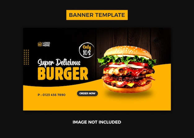 Modello di banner design banner web hamburger