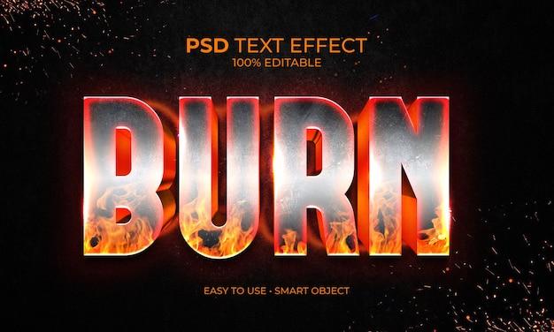 Effetto testo burn fire