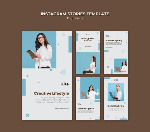 Modello di storie instagram annuncio aziendale Psd Premium