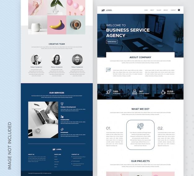 Modello della pagina di destinazione dell'agenzia commerciale