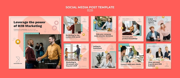 Modelli di post instagram business to business