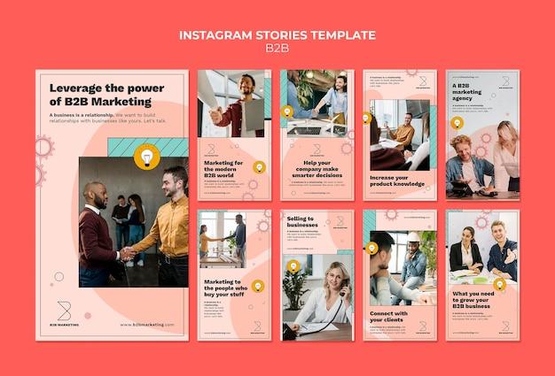 Modelli di storie di instagram business to business