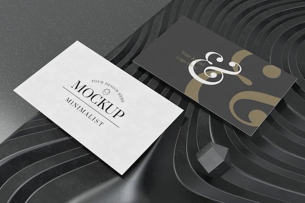 Mockup di biglietto da visita su rendering 3d