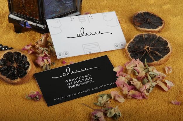 Cosmetici di mockup biglietto da visita