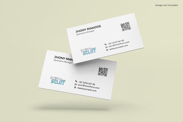 Progettazione di mockup di biglietti da visita in rendering 3d
