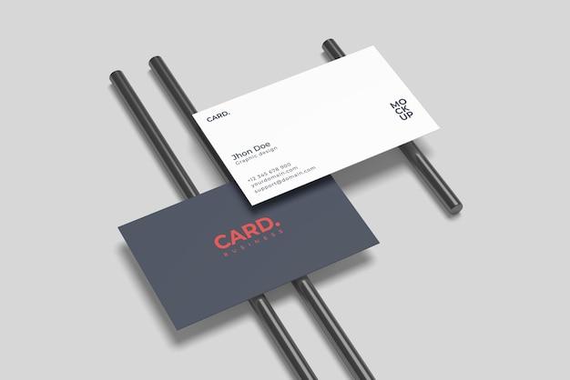 Design mockup biglietto da visita isolato