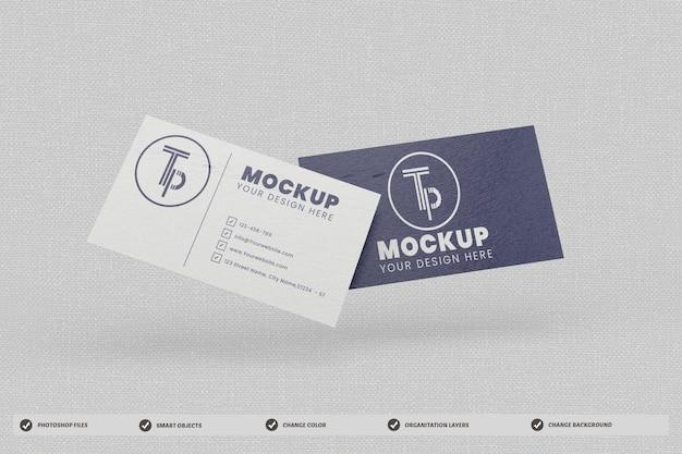 Biglietto da visita mockup design isolato