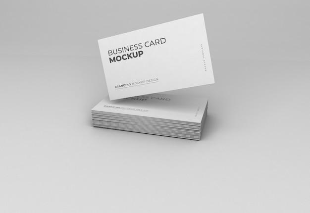 Design mockup di biglietti da visita