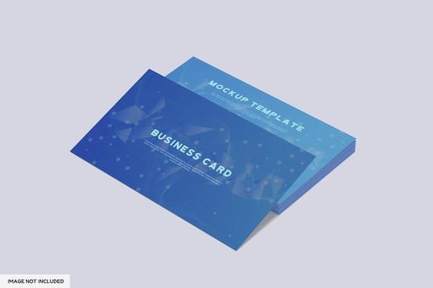 Mockup di biglietto da visita con vista prospettica