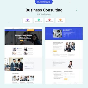 Ui del sito web di consulenza aziendale