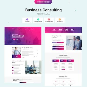 Modello di sito web di consulenza aziendale