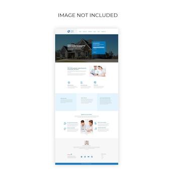 Pagina di destinazione aziendale e di consulenza