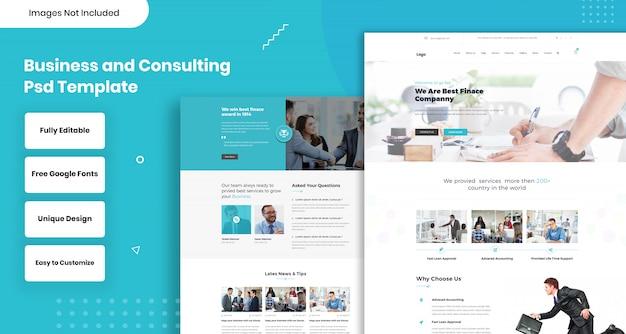 Modello web di consulenza aziendale