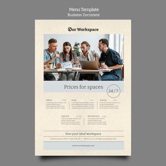Modello di progettazione banner documento aziendale