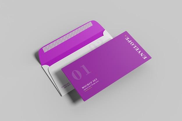Busta aziendale mockup design 3d rendering