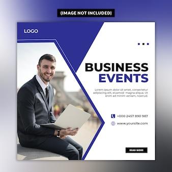 Modello di post social media eventi aziendali