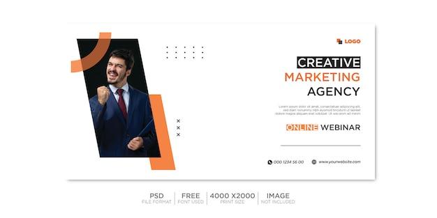 Copertina facebook aziendale e banner web psd premium Psd Premium