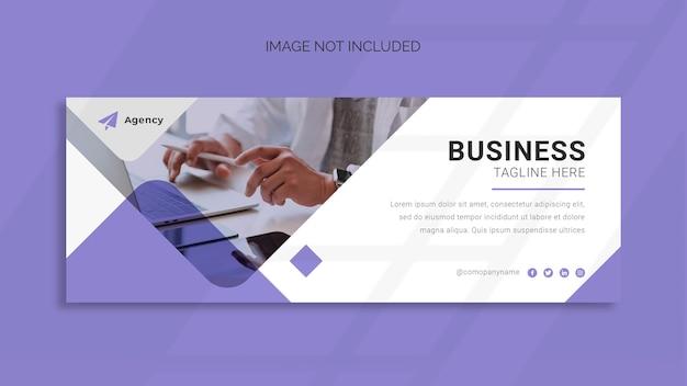 Copertina facebook aziendale e modello di banner web