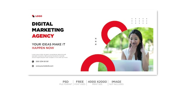 Copertina facebook aziendale e banner web