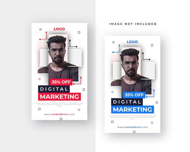 Progettazione di storie aziendali su facebook o instagram