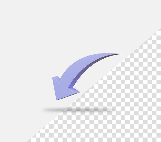 Freccia della curva verso il basso della crescita del business