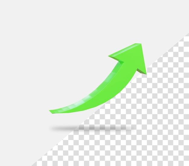 Freccia della curva di crescita del business