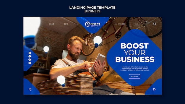Modello di progettazione della pagina di destinazione aziendale