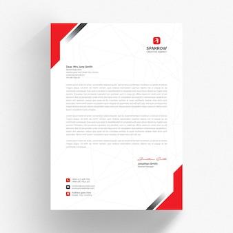 Mockup di carta intestata aziendale isolato