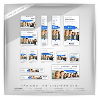Set di banner di google marketing aziendale