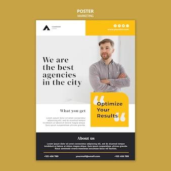 Modello di poster di marketing aziendale