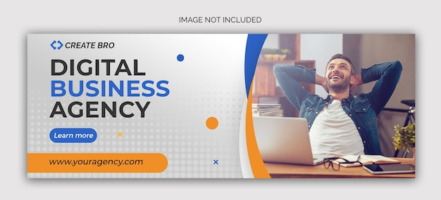 Modello di banner post social media marketing aziendale