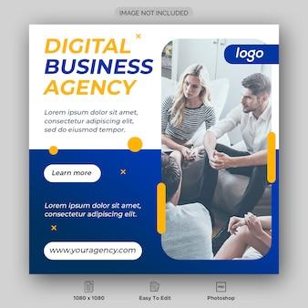 Banner di post social media marketing aziendale