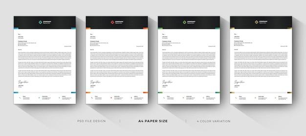 Modelli professionali di carta intestata moderna aziendale