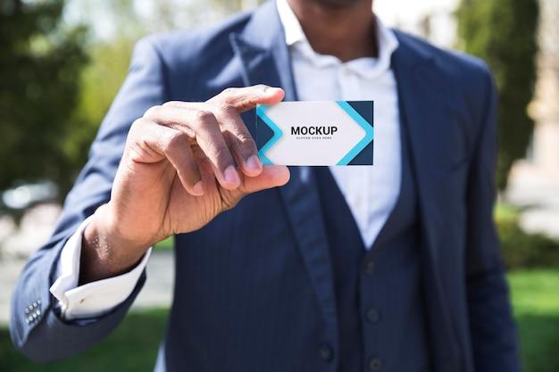 Mock-up di concetto all'aperto di affari