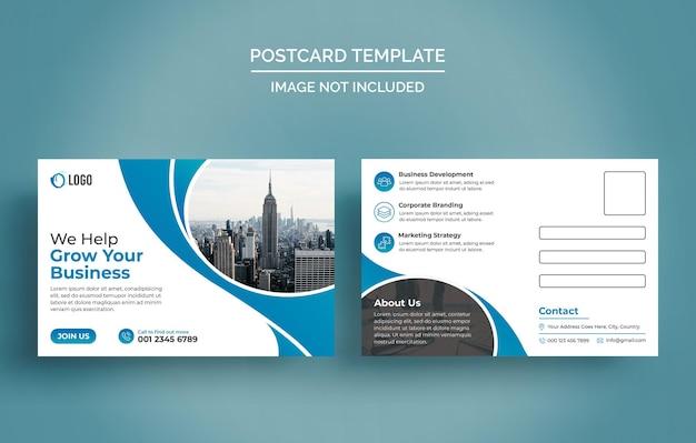 Modello di progettazione di cartoline aziendali