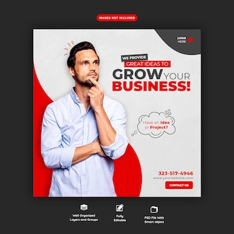 Modello di banner di promozione aziendale e social media aziendale