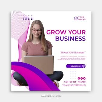 Promozione aziendale e modello di banner creativo per social media
