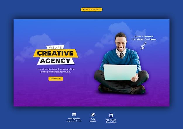 Promozione aziendale e modello di banner web creativo