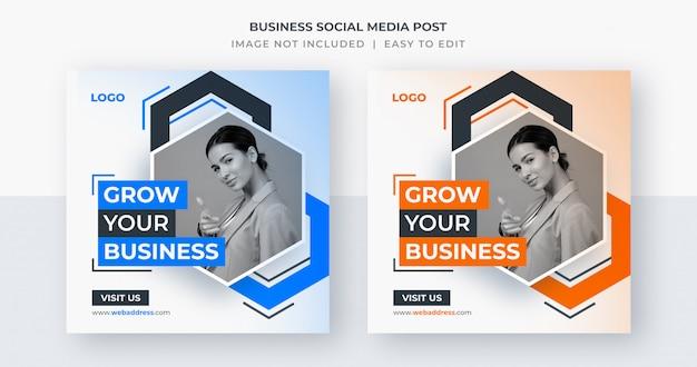 Post di social media aziendali o modello di banner