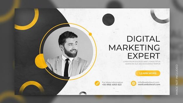 Banner di promozione di soluzioni aziendali agenzia di marketing creativo social media copertina facebook