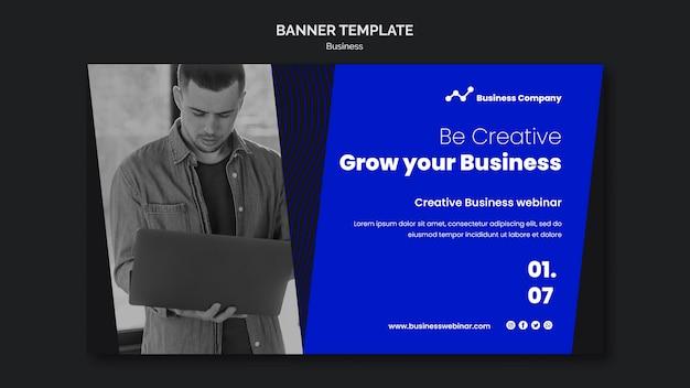 Modello di banner webinar aziendale business