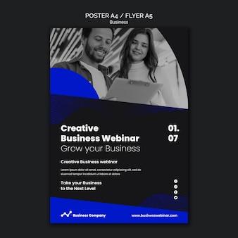 Modello di stampa webinar aziendale business