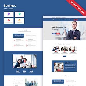 Modello psd sito web aziendale