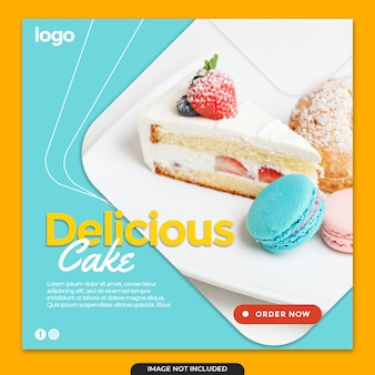 Post di banner instagram torta