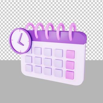 Calendario scadenza illustrazione 3d affari
